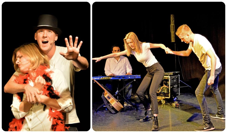 Improvisationstheater bei der Aufführung